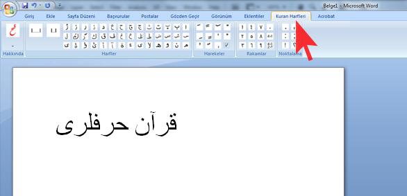 Word 2007de Arapça Ve Osmanlıca Yazın